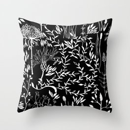 nature in black Throw Pillow