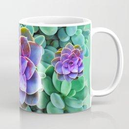 GREY-GREEN LILAC SUCCULENTS GARDEN  IN GREEN ART Coffee Mug