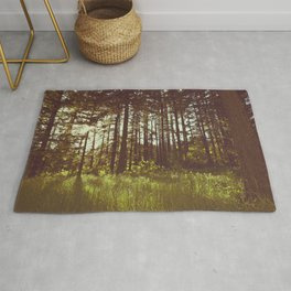 Summer Forest Sunlight - Nature Photography Rug