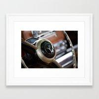 mercedes Framed Art Prints featuring Vintage Mercedes Benz by Ed Doherty Jr