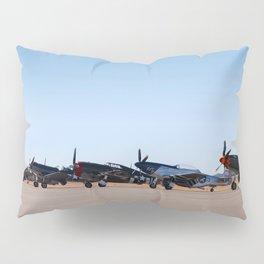 WW2 Warbirds Line-up, Sonoma County Airport, California Pillow Sham