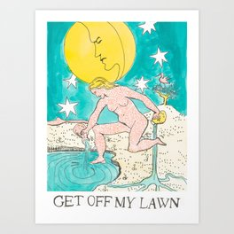 Get Off My Lawn x Judgmental Deck Art Print