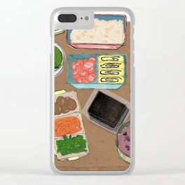 Lunch Box Memories Clear iPhone Case