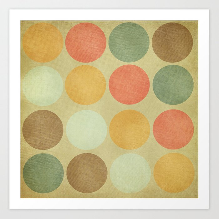 Autumn Circles  Art Print