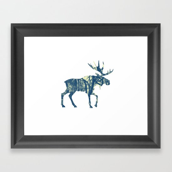 Moose Two Framed Art Print