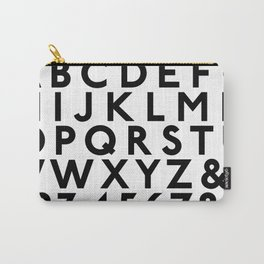 Complete Classic Type Alphabet 123 Carry-All Pouch