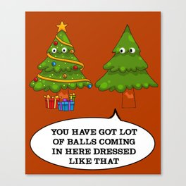 Christmas Tree Funny - Ugly Shirt Canvas Print