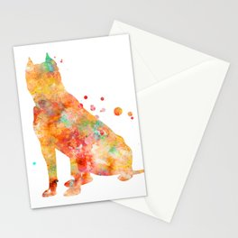 American Staffordshire Terrier Watercolor Painting 2 Stationery Cards