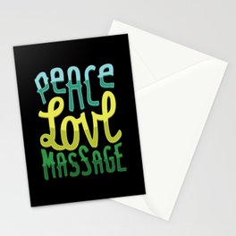 Massage Therapist Design: Peace Love Massage Stationery Cards