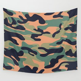 Military camouflage pattern 17 Wall Tapestry