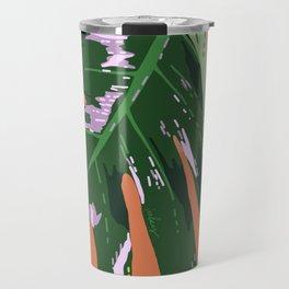Daytime Monsters - Tropical Monstera Deliciosa Illustration Travel Mug