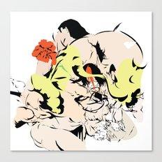 Flowers go to the trashbin Canvas Print