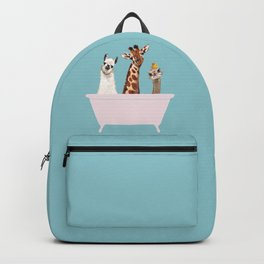 Playful Gangs in Bathtub Blue Backpack