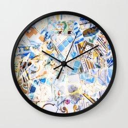 Mosaic of Barcelona Wall Clock