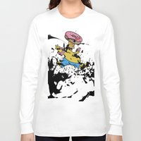 simpsons Long Sleeve T-shirts featuring Simpsons 25th by sinonelineman