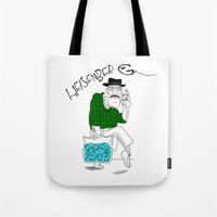 fear and loathing Tote Bags featuring Fear and Loathing in Albuquerque (Breaking Bad) by Evan