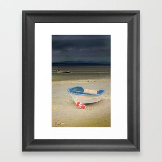 White Storm Framed Art Print
