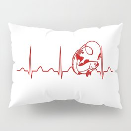 FISHING HEARTBEAT Pillow Sham