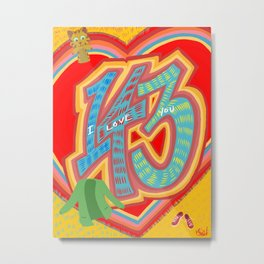 143 - I Love You Neighbor - Mister Rogers Neighborhood Inspired Metal Print