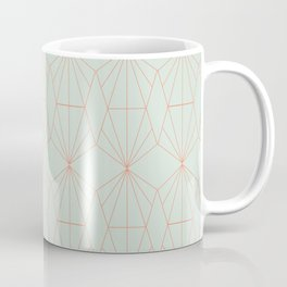 Geometry art decó in blue and orange Coffee Mug