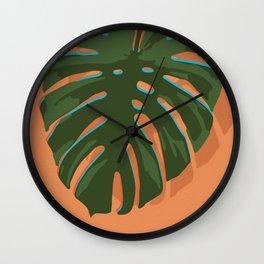 Tropical Plant I Wall Clock