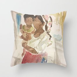 Rohingya Family Throw Pillow