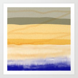 Brush Strokes Art, Watercolor, Color Theory Home Accessories Art Print