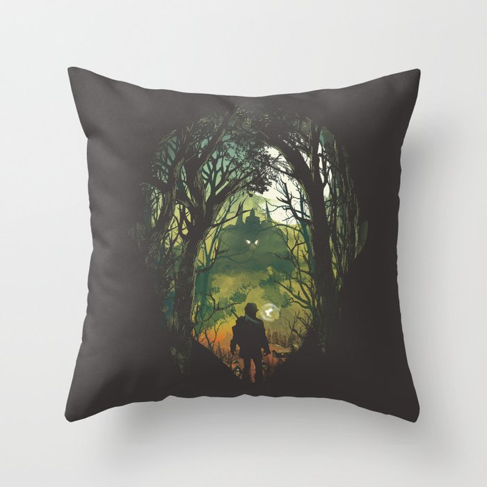 It's Dangerous to go Alone V.2 Throw Pillow