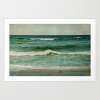 emerald Art Prints featuring emerald by Iris Lehnhardt