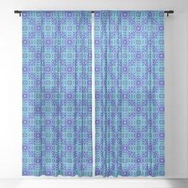 Azure Attitudes Pattern Sheer Curtain