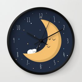 The Cat and the Moon Wall Clock