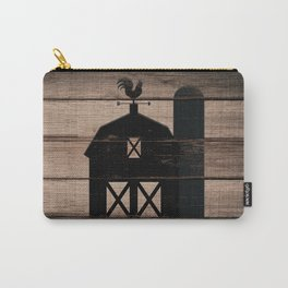 Black Rustic Barn & Rooster Carry-All Pouch