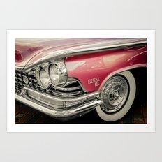 Pink Buick Electra 225 Car Art Print