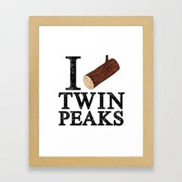 I Love Twin Peaks (Log) Framed Art Print