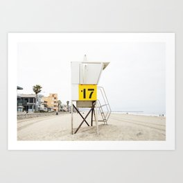 Beach Tower 17 Art Print