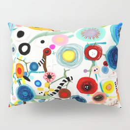 Rupydetequila whimsical floral art 2018 Pillow Sham