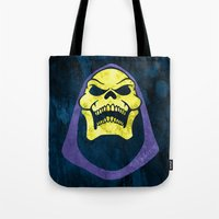 skeletor Tote Bags featuring Skeletor by Some_Designs
