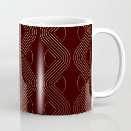 Geometric gold pattern chocolat brown Coffee Mug