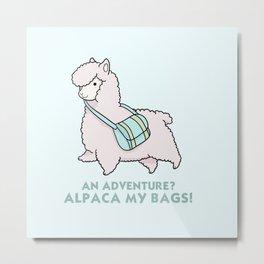 Alpaca my bags Metal Print