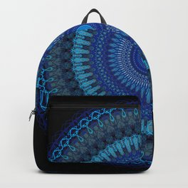 Blue festive doily mandala Backpack