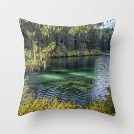 Emerald Tones of Clear Lake Throw Pillow