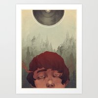 the cure Art Prints featuring Slow Cure by James M. Fenner