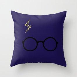 Harry - Blue Throw Pillow