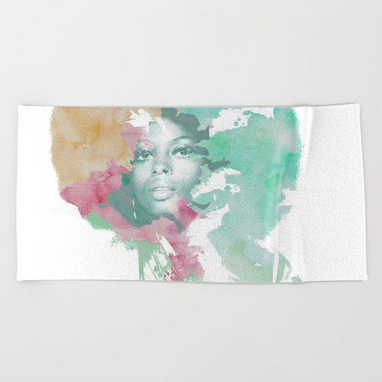Afro Beach Towel
