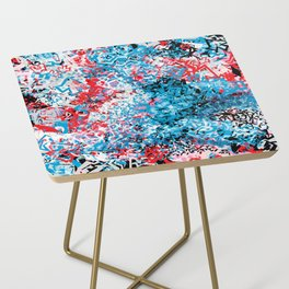 Demonic Toy Poodle Abstract Side Table