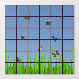 Butterflies at my Window Canvas Print