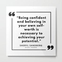 20  | Sheryl Sandberg Quotes | 190902 Metal Print