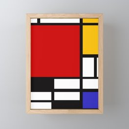 Piet Mondrian - Composition with Red, Yellow, and Blue 1942 Artwork Framed Mini Art Print