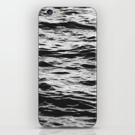 Marble Waters Black and White iPhone Skin