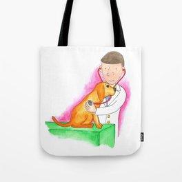 Dr. Chuck the Friendly Veterinarian Tote Bag